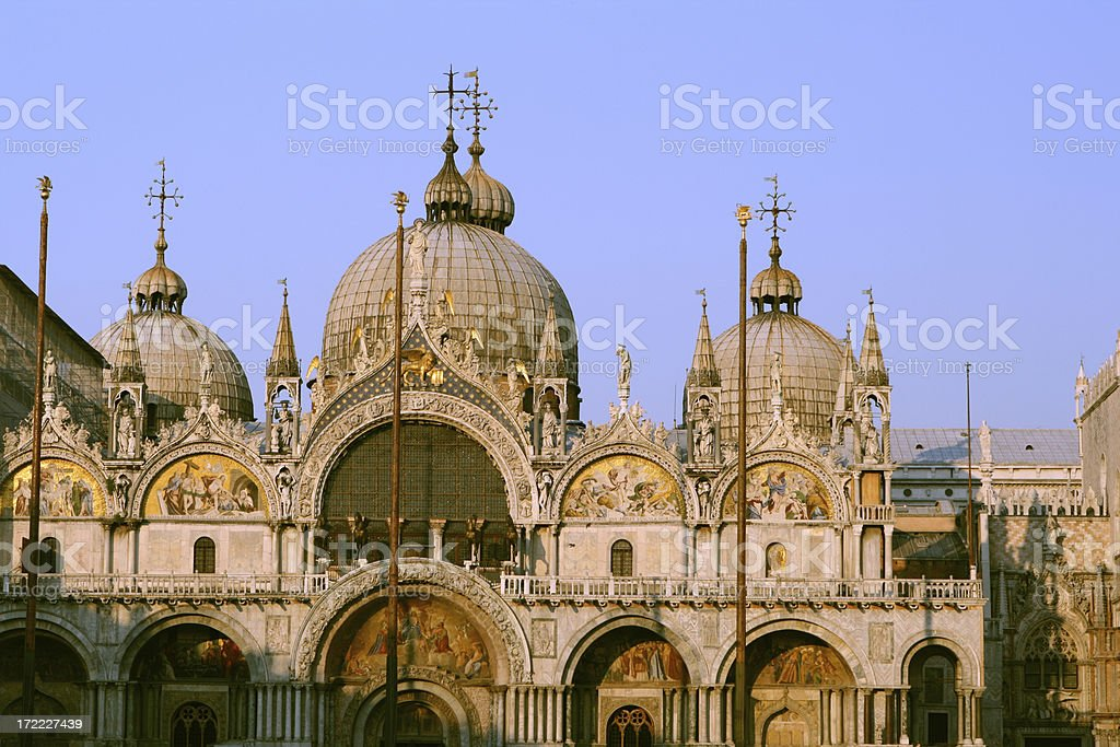 Basilica Di San Marco at sunset, Venice Italy royalty-free stock photo