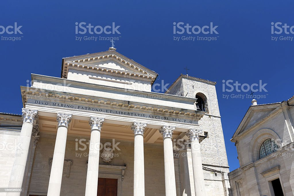 Basilica di San Marino stock photo