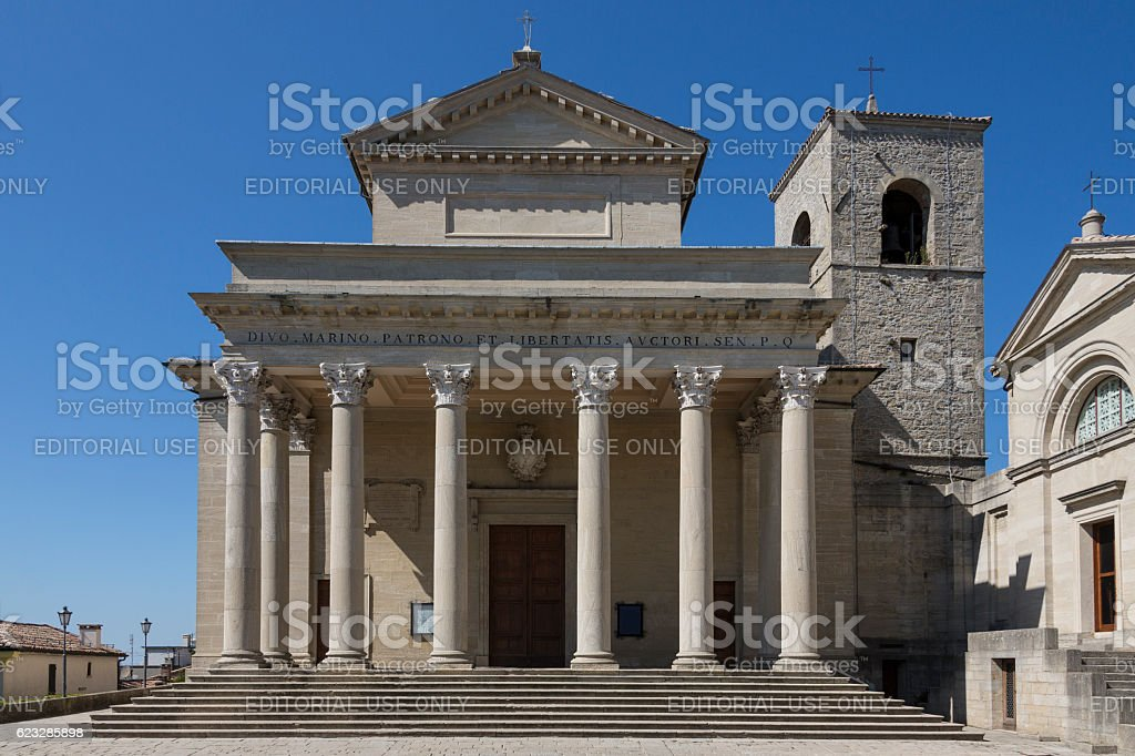 Basilica di San Marino - San Marino stock photo