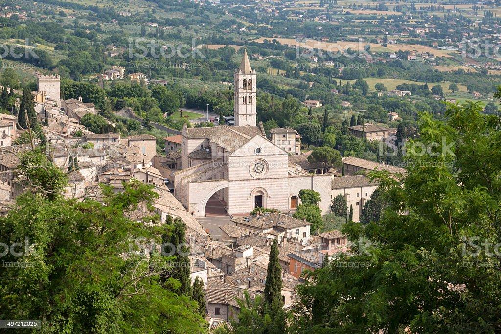 Basilica di Santa Chiara, Assisi Umbria Italy stock photo