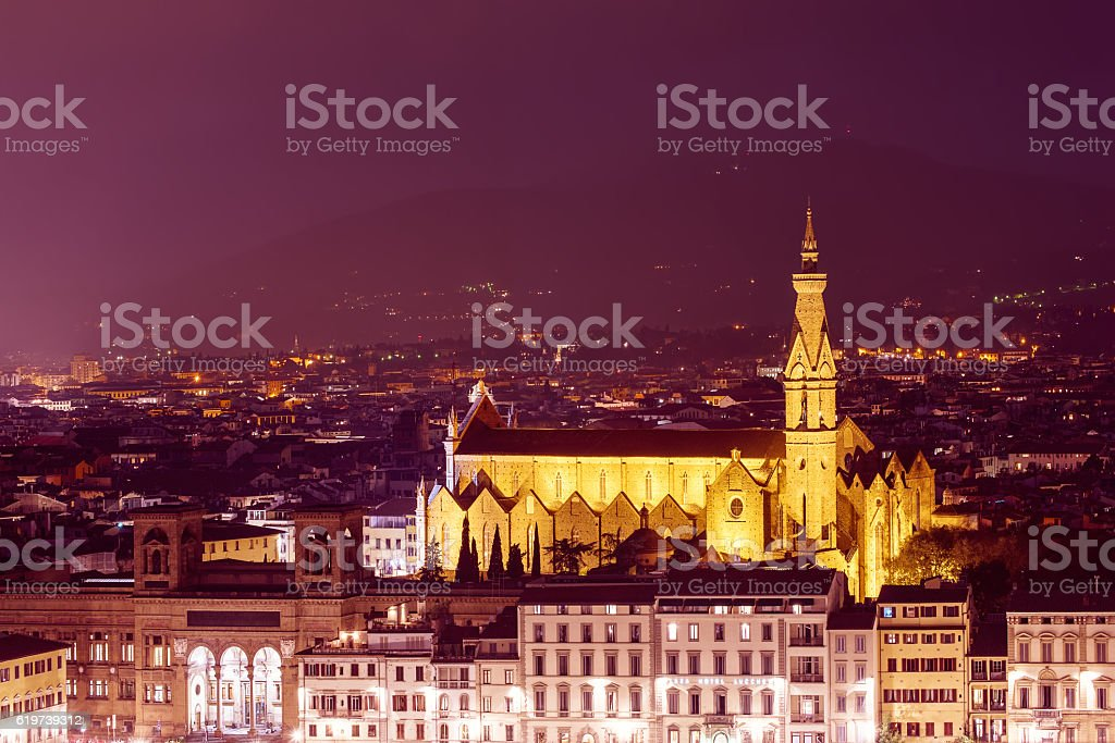 Basilica di Santa Croce stock photo