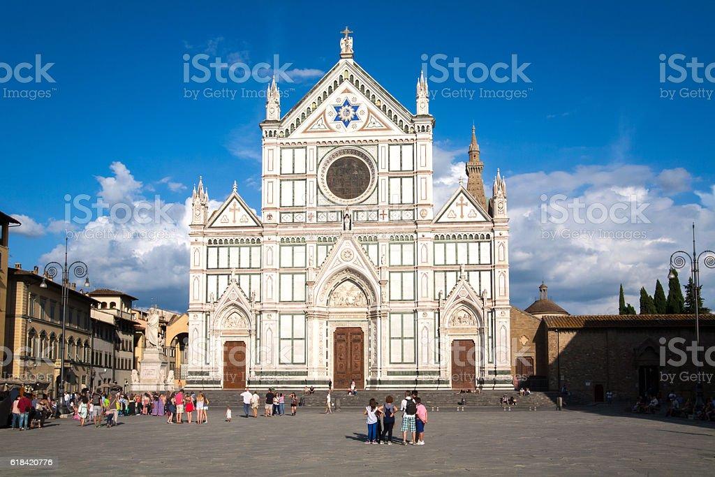 Basilica di Santa Croce principal Franciscan church in Florence, Italy. stock photo
