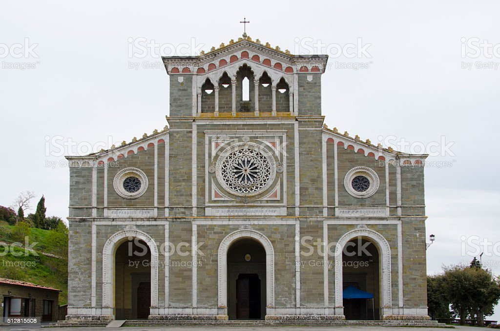 Basilica di Santa Margherita in Cortona, Italy stock photo