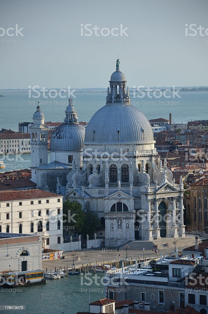 Basilica di Santa Maria della Salute in Venice - Italy royalty-free stock photo