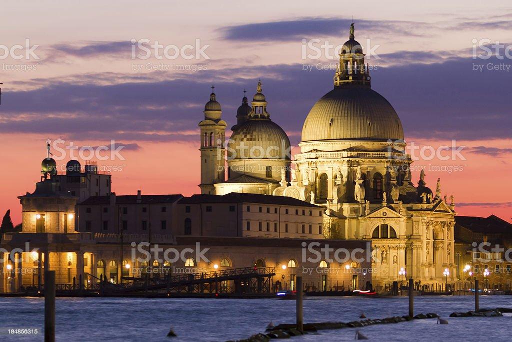 Basilica di Santa Maria della Salute, Venice, Italy stock photo