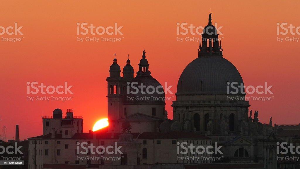 Basilica di Santa Maria della Salute, Venice stock photo