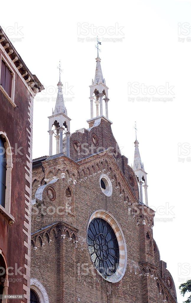 Basilica di Santa Maria Gloriosa dei Frari, Venice stock photo