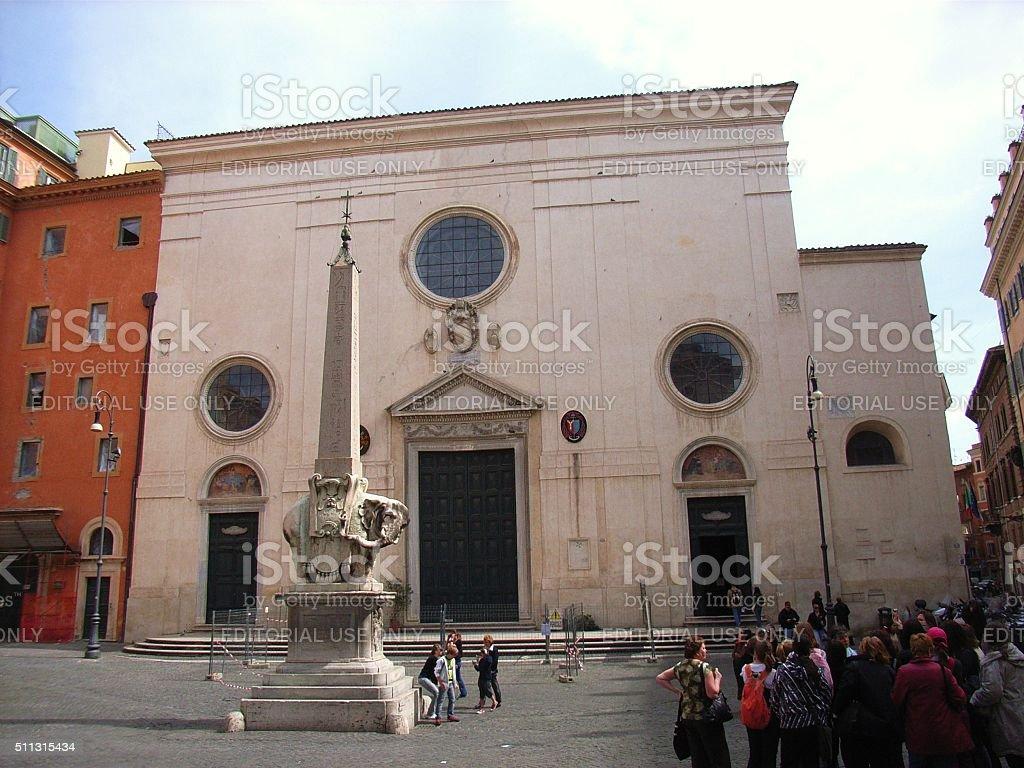 Basilica di Santa Maria Sopra Minerva stock photo