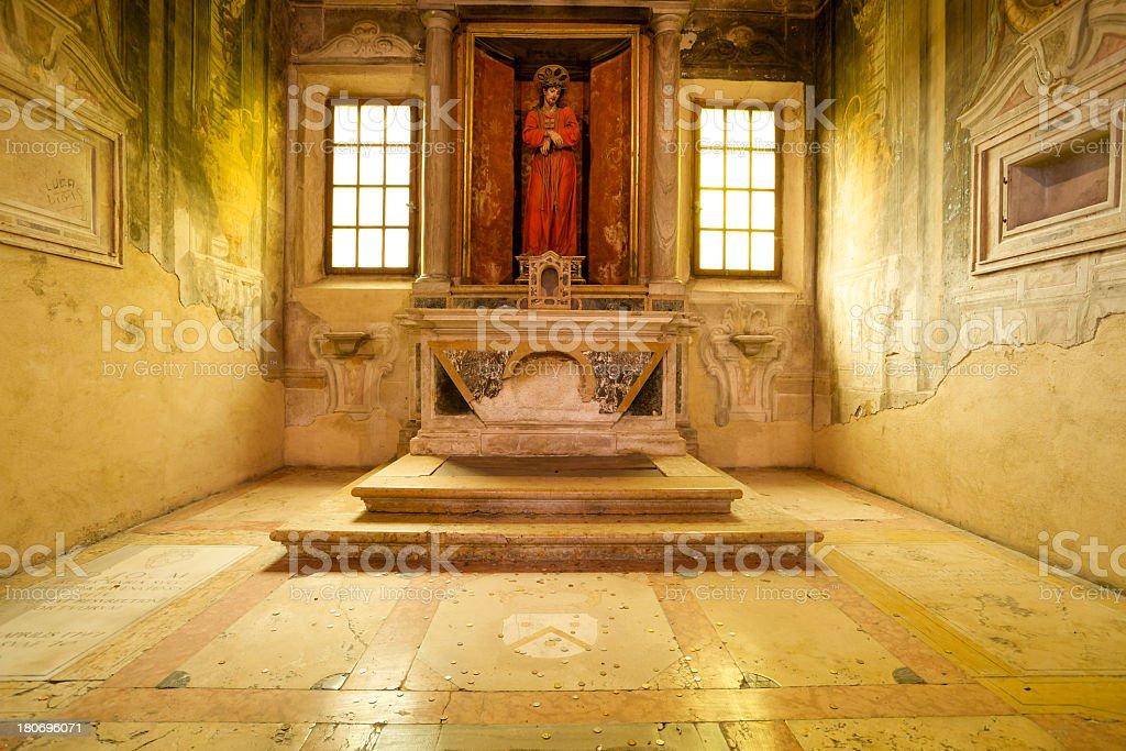 Basilica di Sant'Apollinare Nuovo in Ravenna royalty-free stock photo