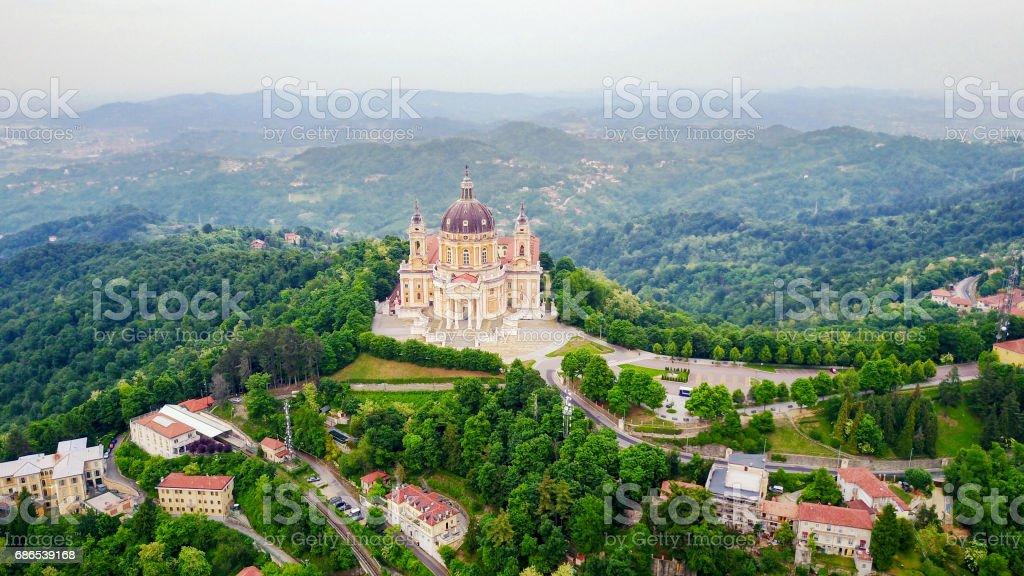 Basilica di Superga stock photo
