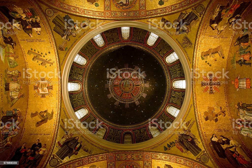 Basilica Dome royalty-free stock photo