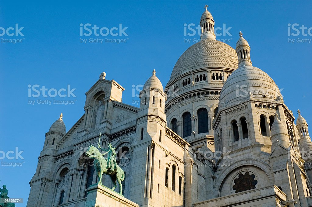 Basilica du Sacre Coeur, Paris royalty-free stock photo