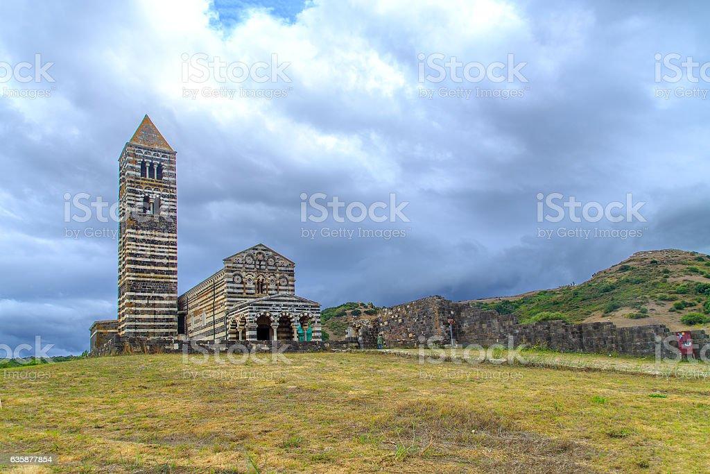 Basilica in Codrongianos, Sardinia, Italy stock photo