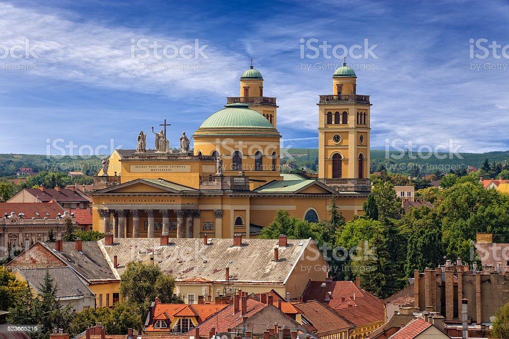 Basilica in Eger stock photo