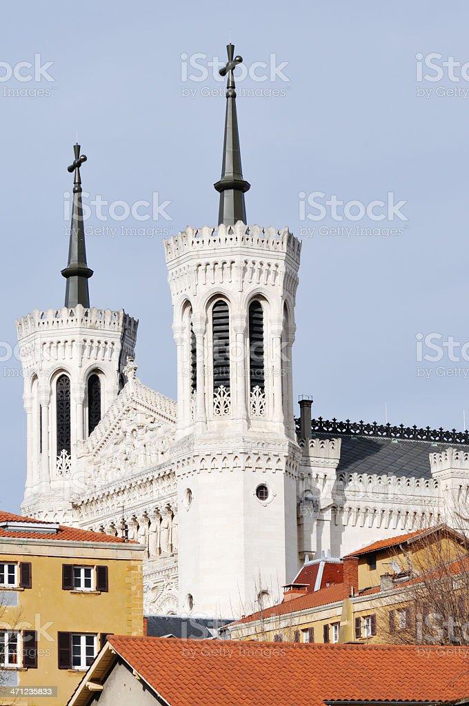Basilica in Lyon, France stock photo
