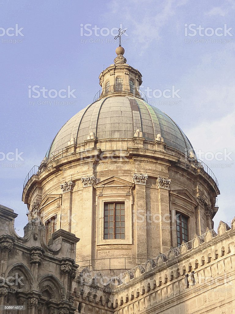 basilica in palermo, sicily royalty-free stock photo