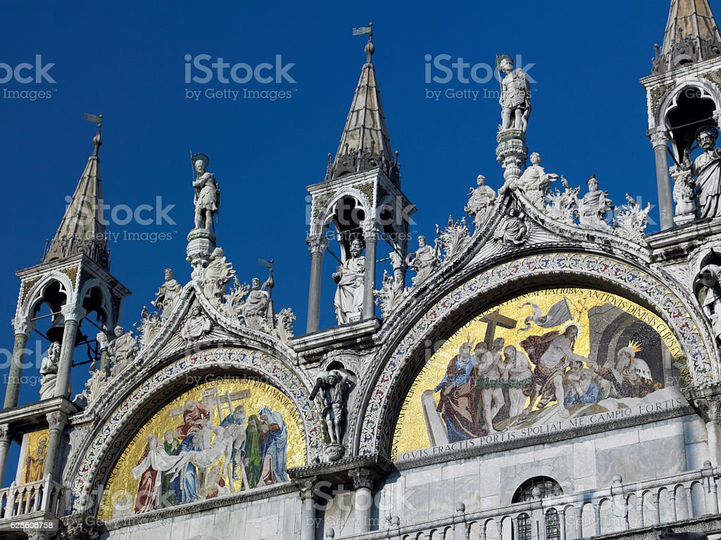 Basilica in St Marks Square - Venice - Itlay stock photo