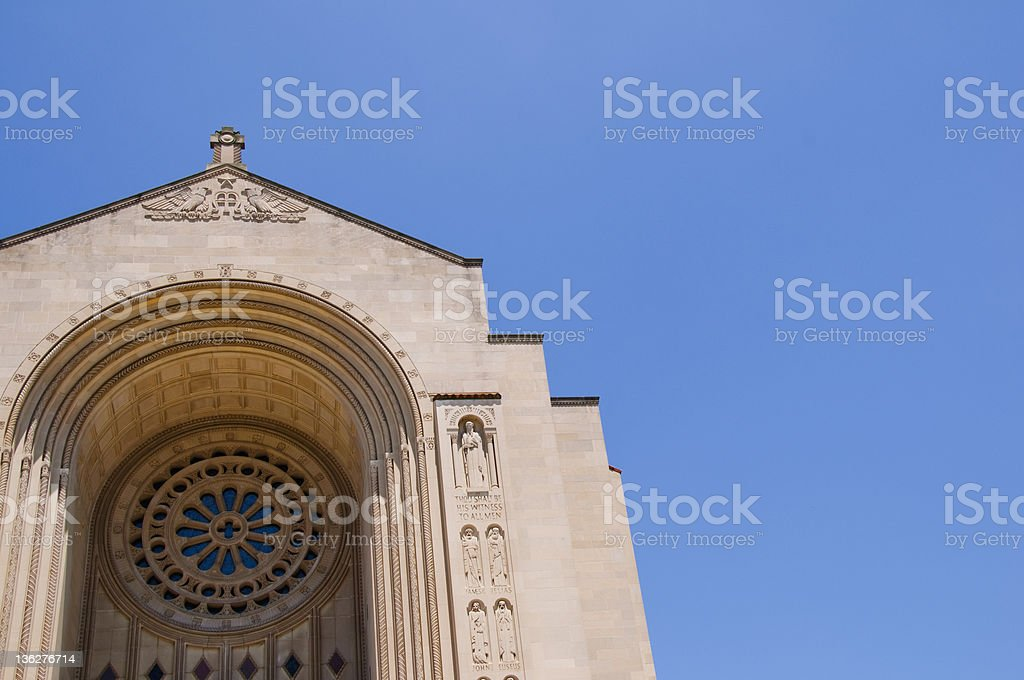 Basilica National Shrine of the Immaculate Conception royalty-free stock photo