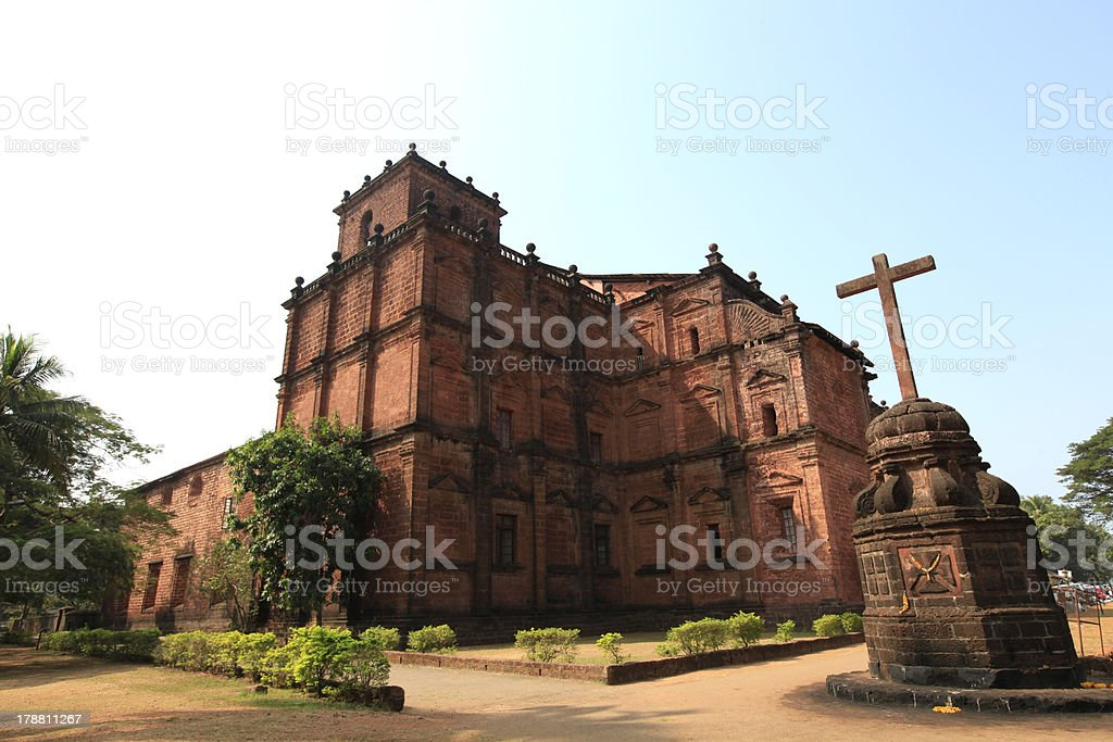 Basilica of Bom Jesus, Goa, India stock photo
