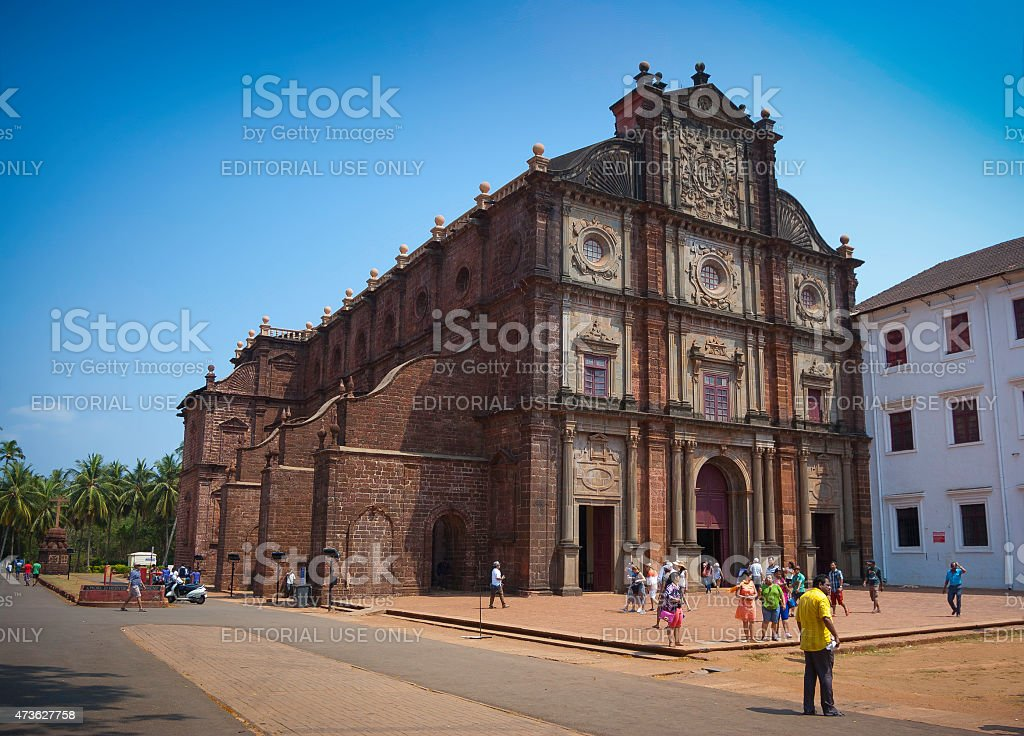 Basilica of Bom Jesus, Old Goa, India stock photo