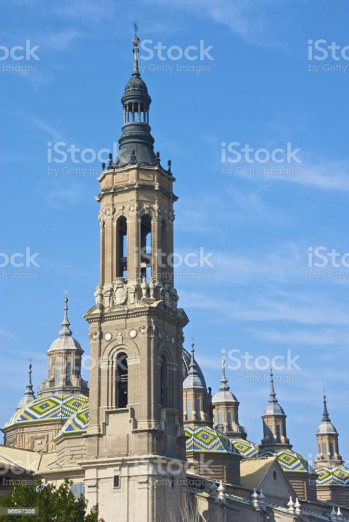 Basilica of El Pilar (Zaragoza) - Detail stock photo