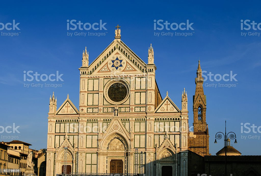 Basilica of Holy Cross (Basilica di Santa Croce), Florence, Italy. stock photo
