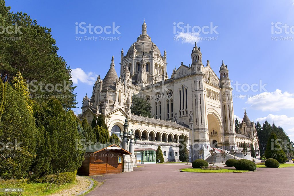 Basilica of Lisieux (Normandy, France) royalty-free stock photo