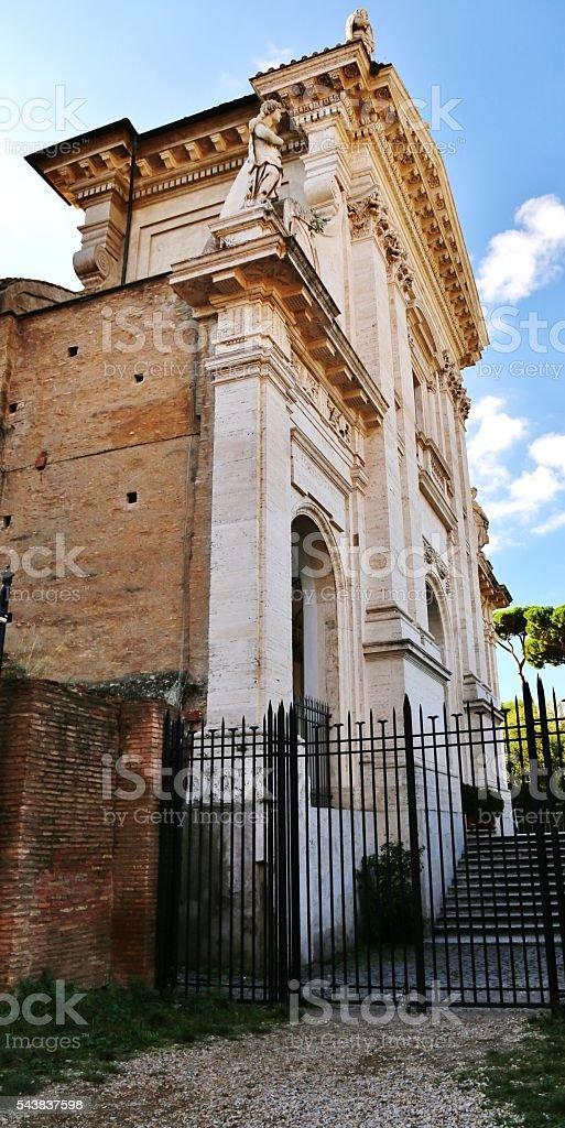 Basilica of Maxentius   312 A.D. stock photo