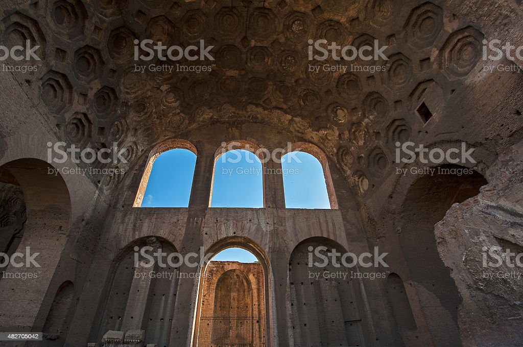 Basilica di Massenzio stock photo