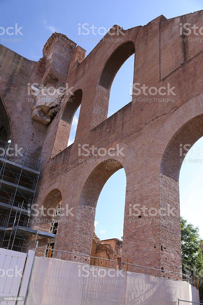 Basilica of Maxentius stock photo