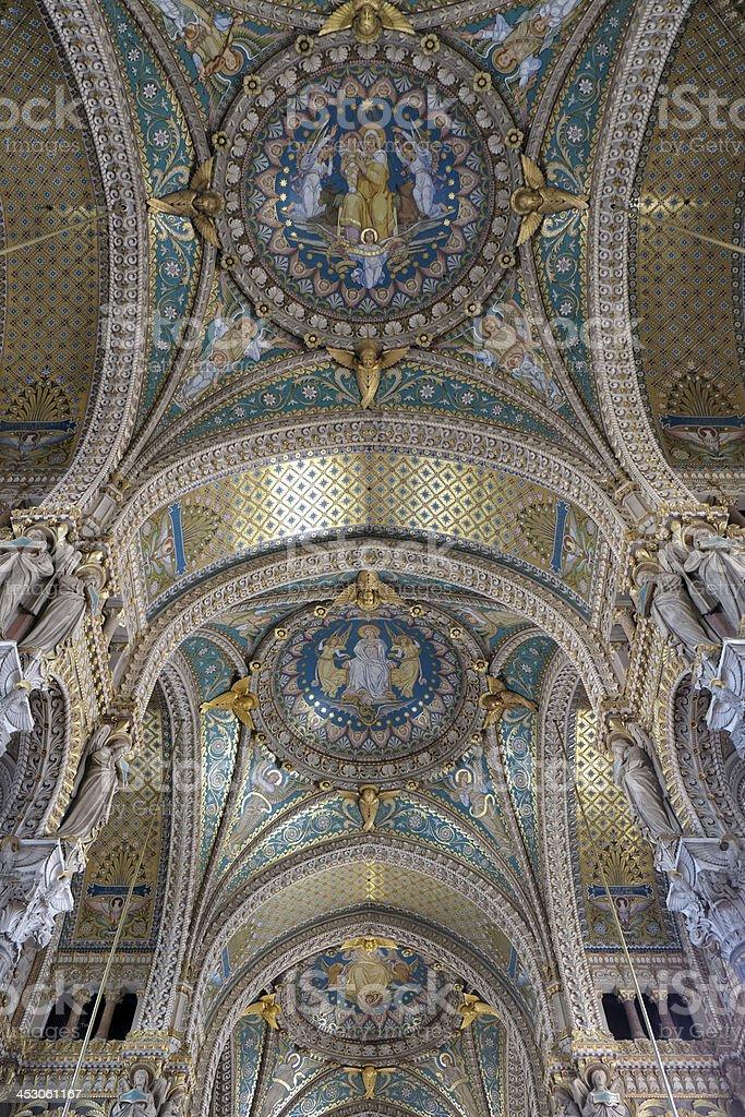 Basilica of Notre-Dame de Fourvi?re royalty-free stock photo