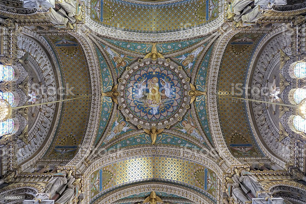Basilica of Notre-Dame de Fourvière royalty-free stock photo