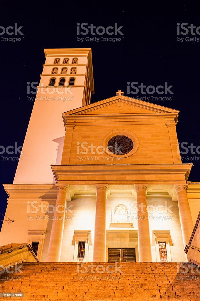 Basilique Notre-Dame du Valentin in Lausanne stock photo