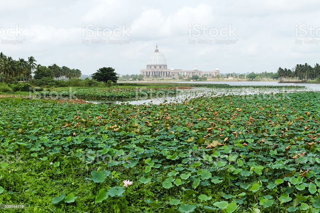 Basilica of Our Lady of Peace, Yamoussoukro stock photo