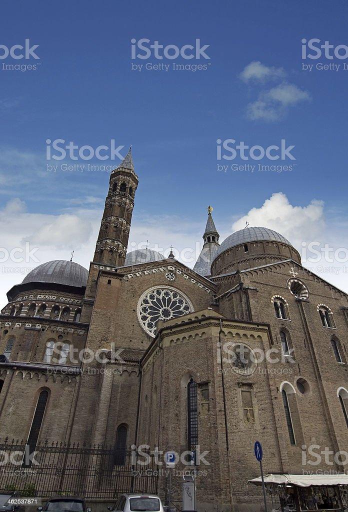 Basilica of Padova stock photo