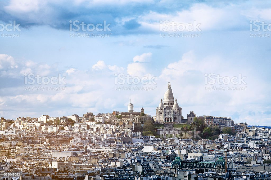 Basilique du Sacré-Cœur, Paris, France stock photo