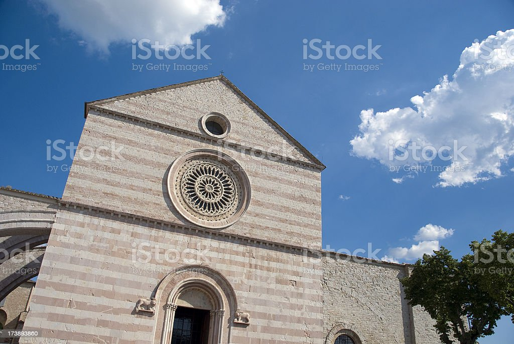 Basilica of Saint Clare stock photo