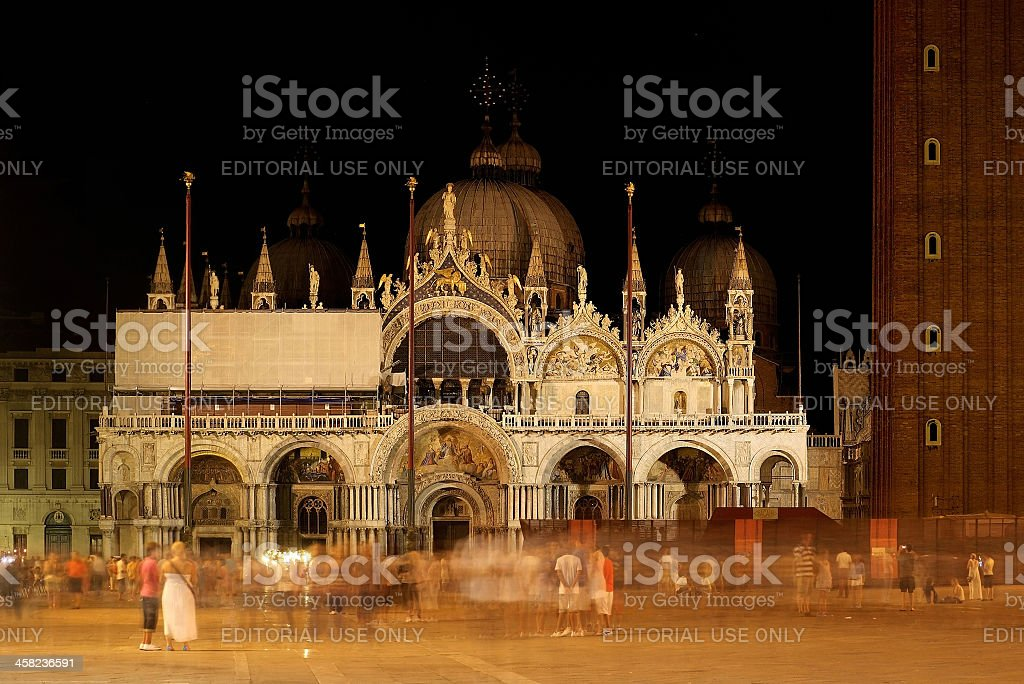 Basilica of Saint Mark by night royalty-free stock photo