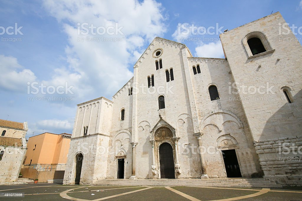 Basilica of Saint Nicholas in Bari, Puglia, Italy stock photo