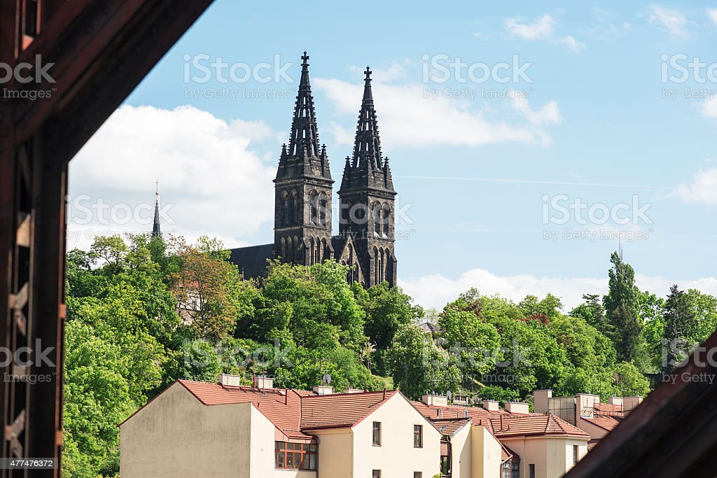 basilica of saint peter and paul situated in vysehrad stock photo