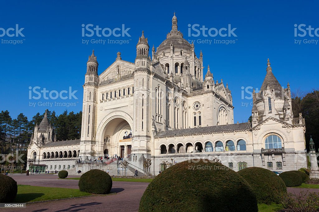 Basilica of Saint Therese, Lisieux stock photo