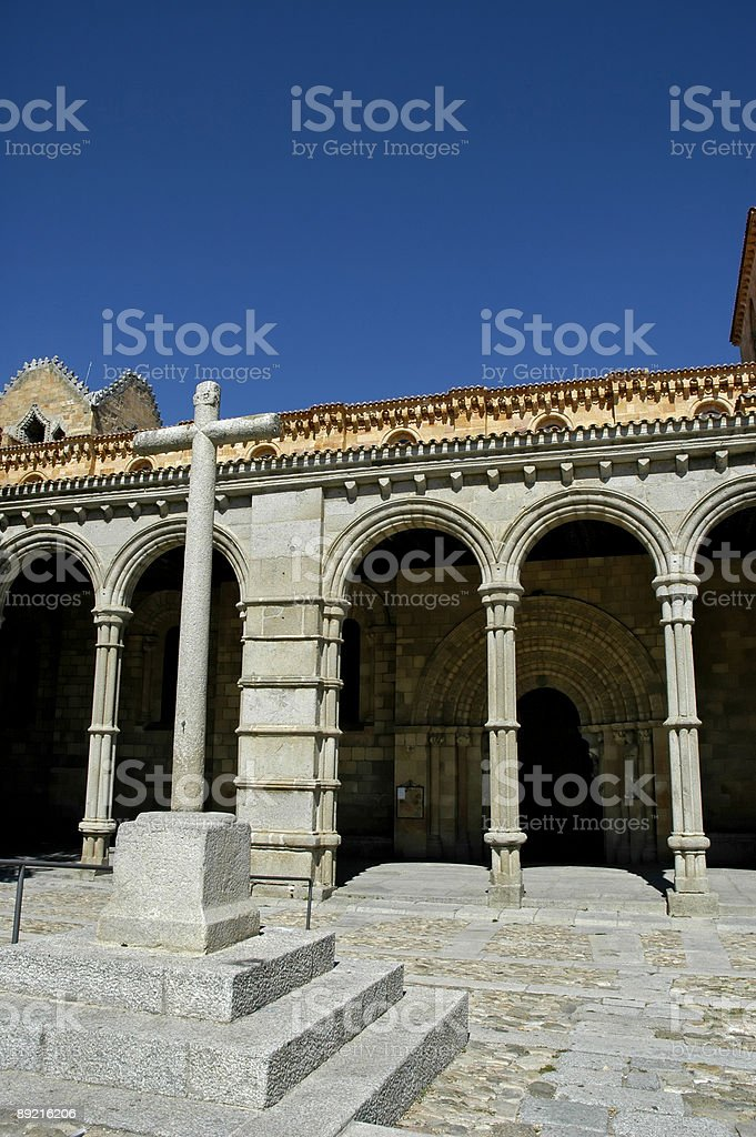 Basilica of Saint Vincent, Avila (Spain) royalty-free stock photo
