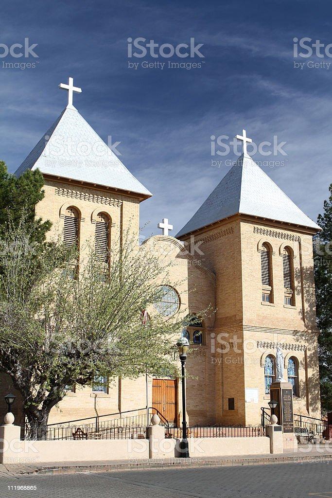 Basilica of San Albino stock photo