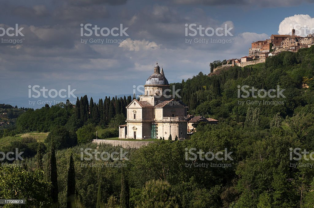 Basilica of San Biagio stock photo