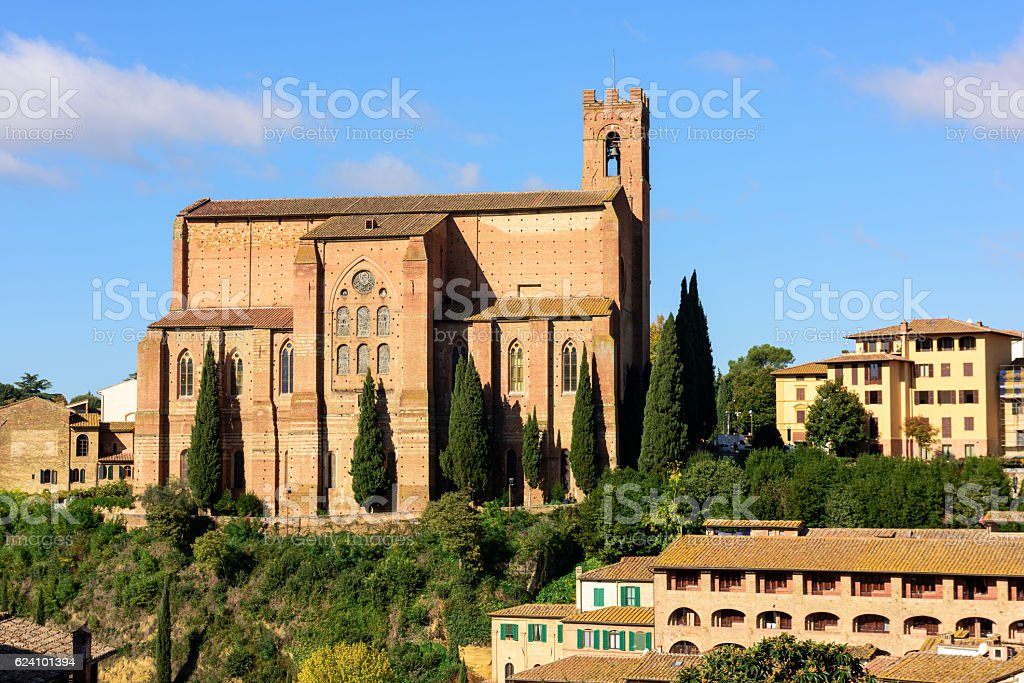 Basilica of San Domenico in Siena, Italy stock photo