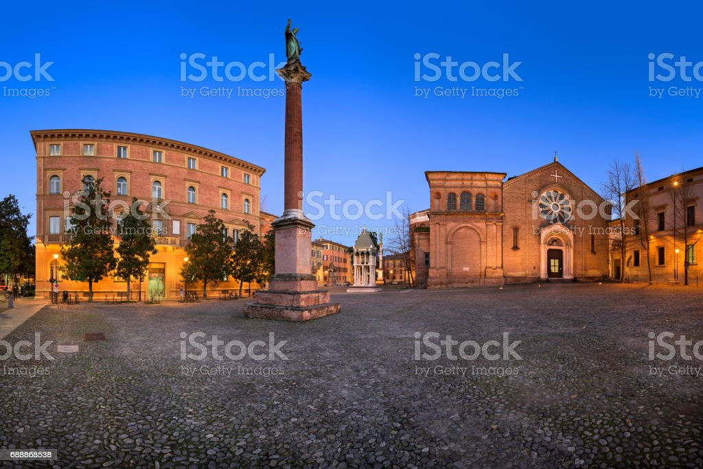 Basilica of San Domenico in the Evening, Bologna, Emilia-Romanga, Italy stock photo