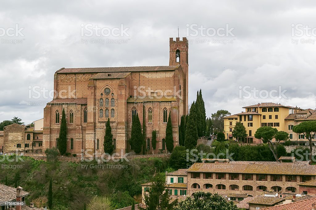 Basilica of San Domenico., Siena, Italy stock photo