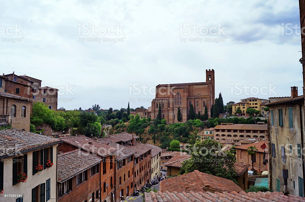 Basilica of San Domenico, Siena, Italy stock photo