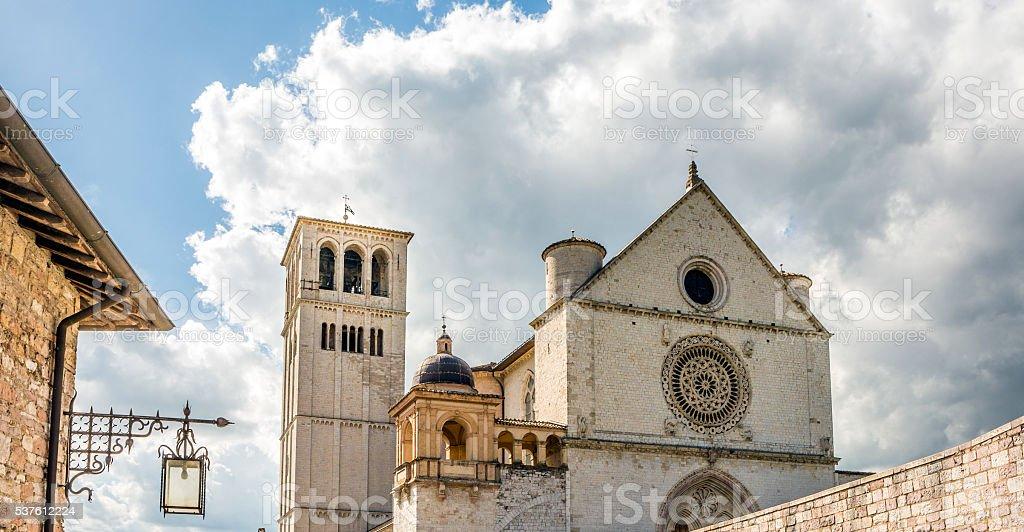 Basilica of San Francesco d'Assisi, Umbria Italy stock photo