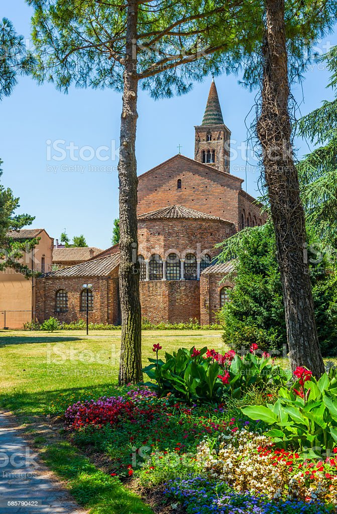 Basilica of San Giovanni Evangelista of Ravenna. Italy. stock photo